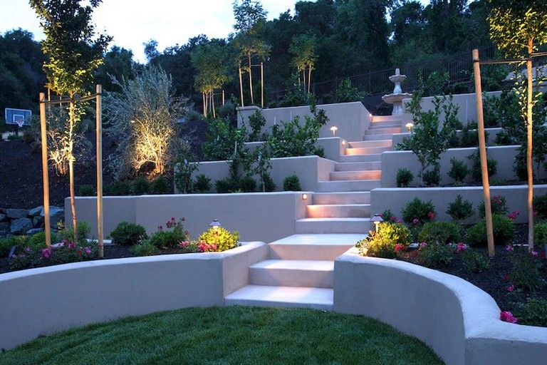 75 Awesome Low Maintenance Front Yard Landscaping Ideas Frontyard Frontyardlandscaping Fronty Sloped Backyard Landscaping Sloped Backyard Luxury Landscaping