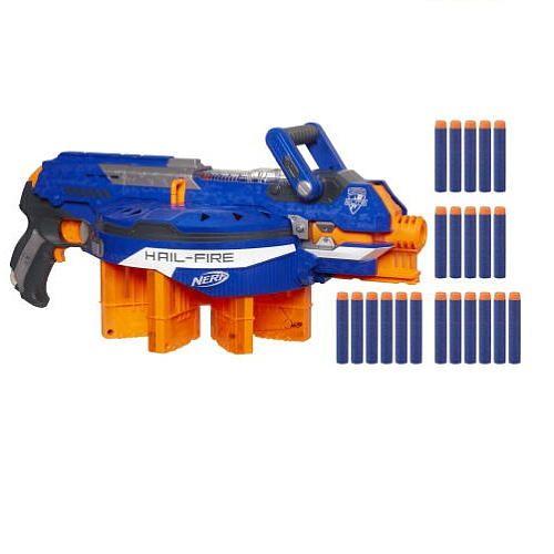 Toys R Us Nerf Guns : Ryan nerf n strike elite hail fire blaster hasbro