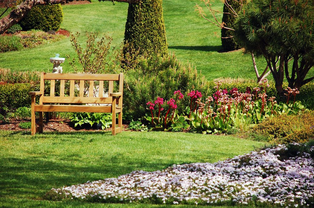 Garden bench by Perl Photography