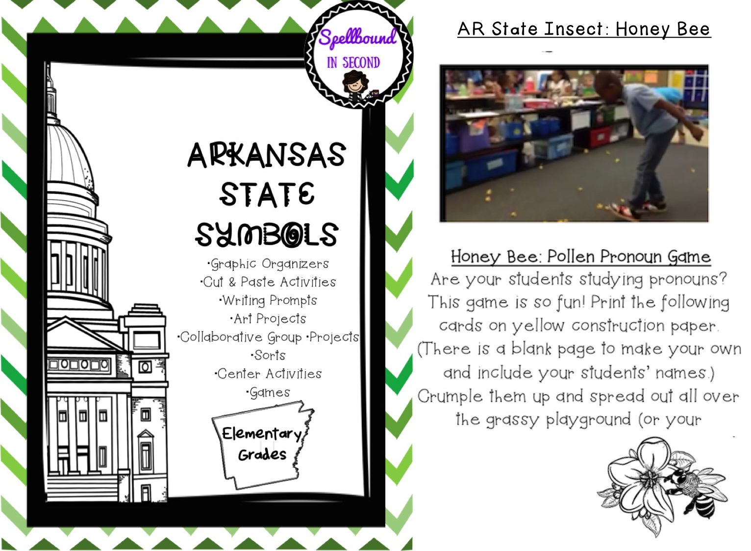 Arkansas State Symbols Unit Elementary Grades With Images