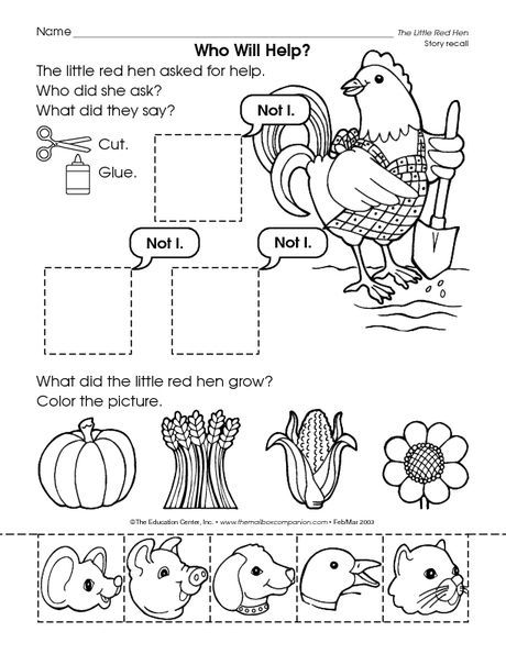 - Little Red Hen Planting Seeds Coloring Pages