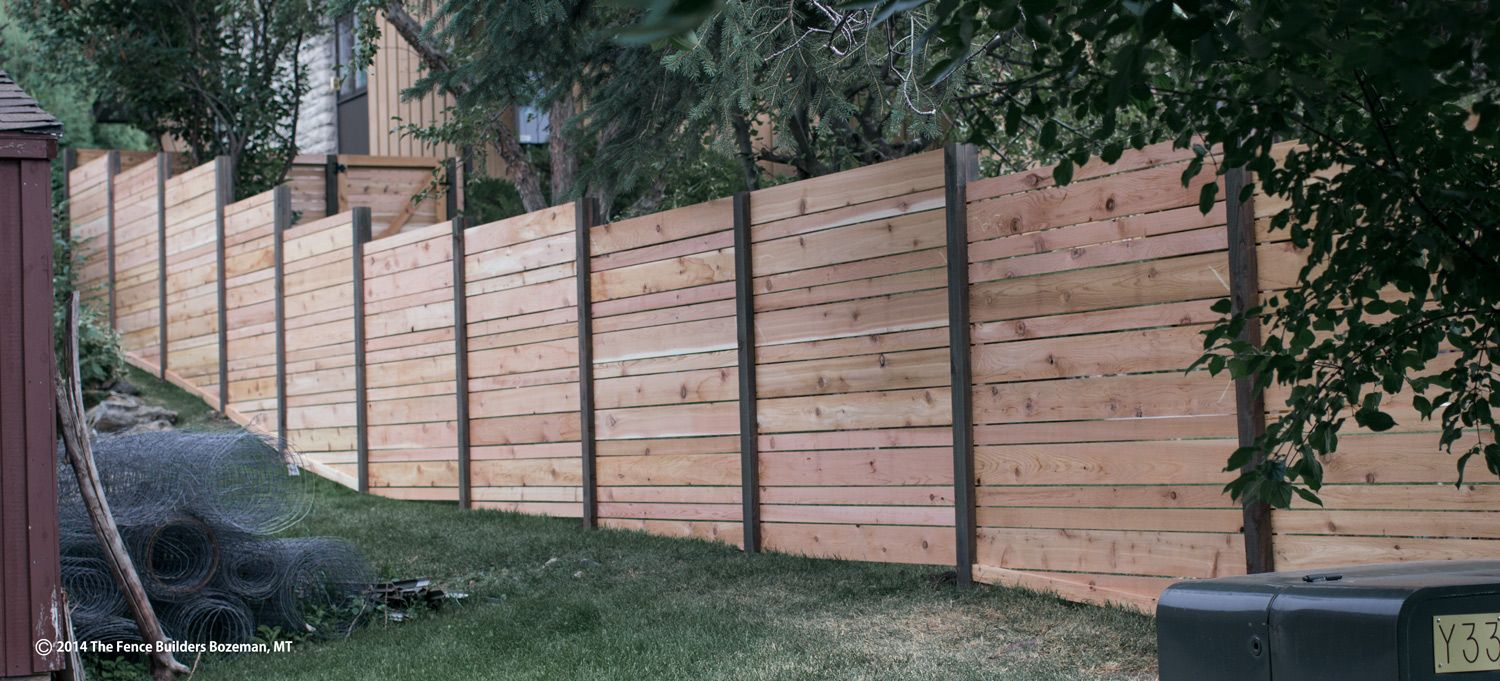 Horizontal Privacy Fence On A Slope Http