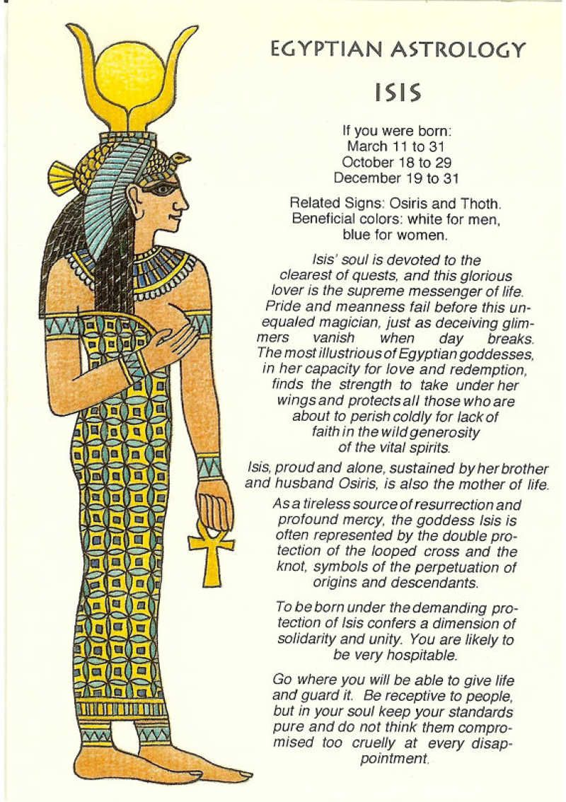 Read What These 12 Ancient Egyptian Astrology Signs And