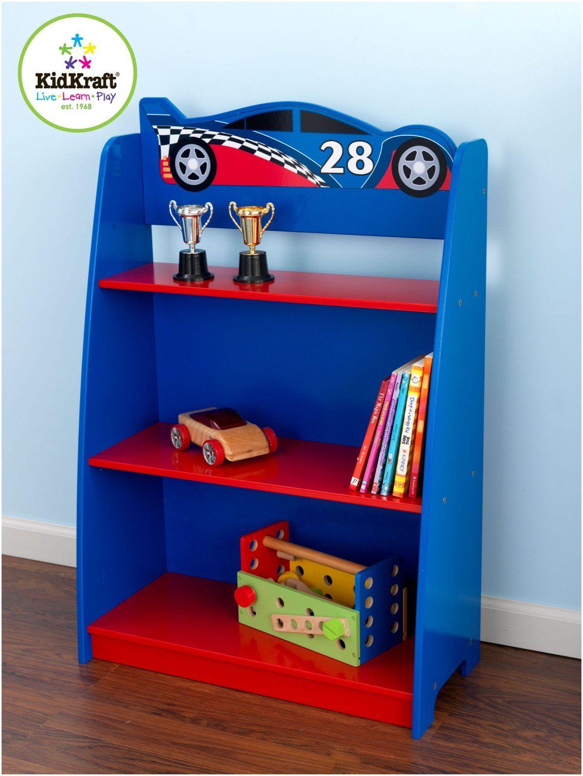 KidKraft Racecar Bookcase Made of composite wood materials