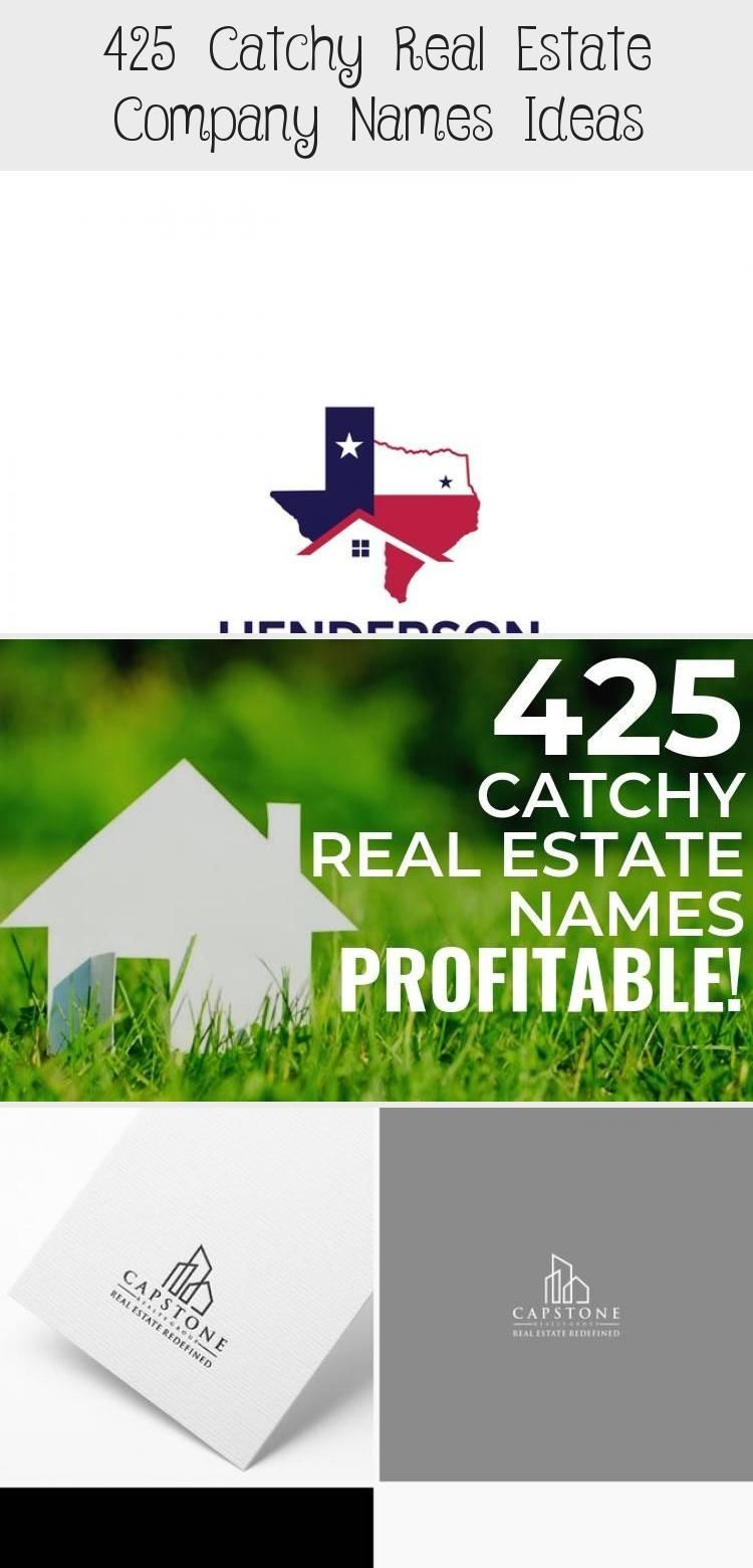 425 Catchy Real Estate Company Names Ideas