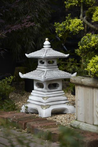 Exceptional TWO TIER PAGODA GARDEN STATUE ORNAMENT JAPANESE KOI | EBay