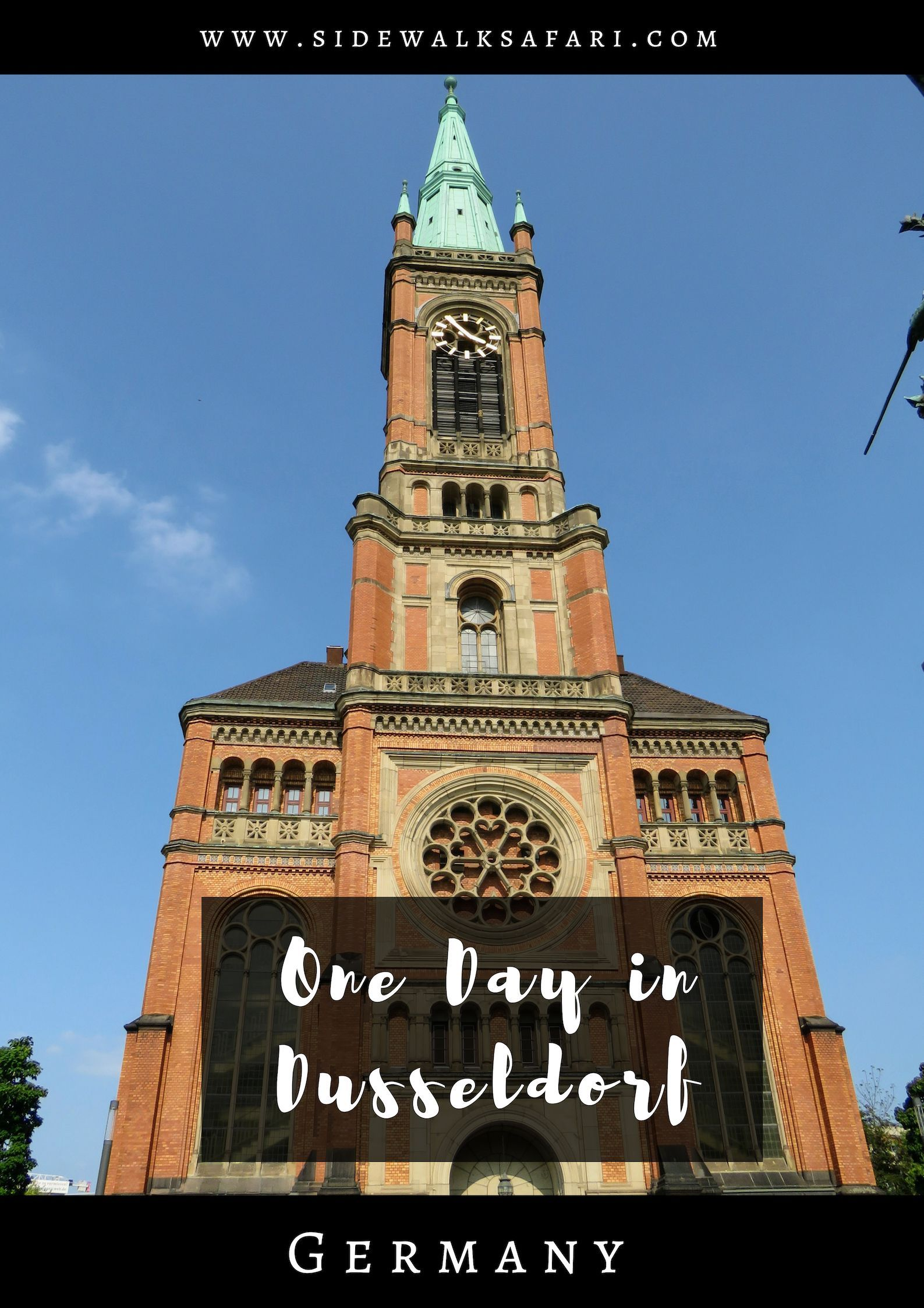 One Day in Düsseldorf Germany | Sidewalk Safari Travel Blog Posts Dusseldorf Old Town Map on