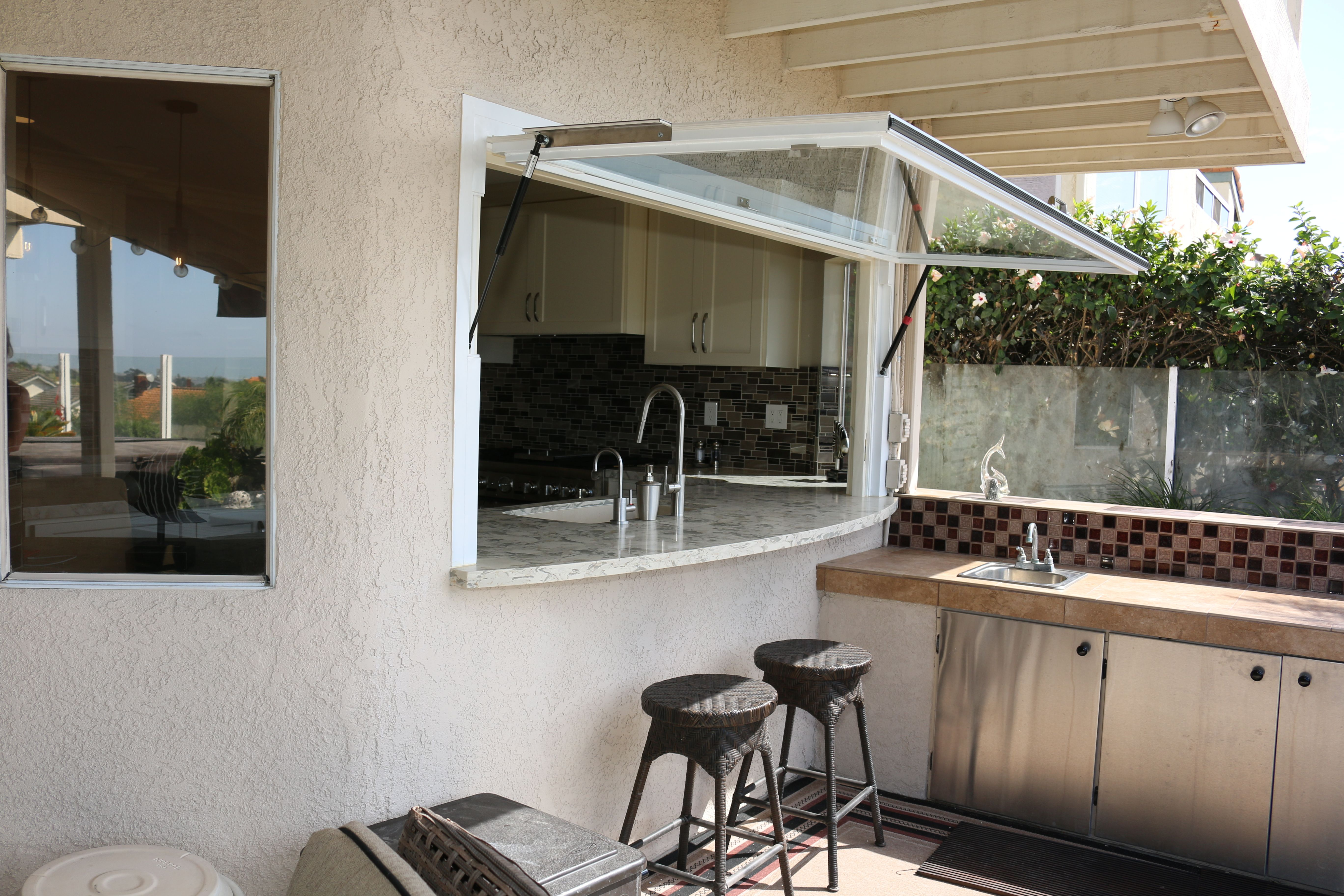Pass Through Kitchen Window Vanity Thru To Outdoor Bbq Flipoutwindows