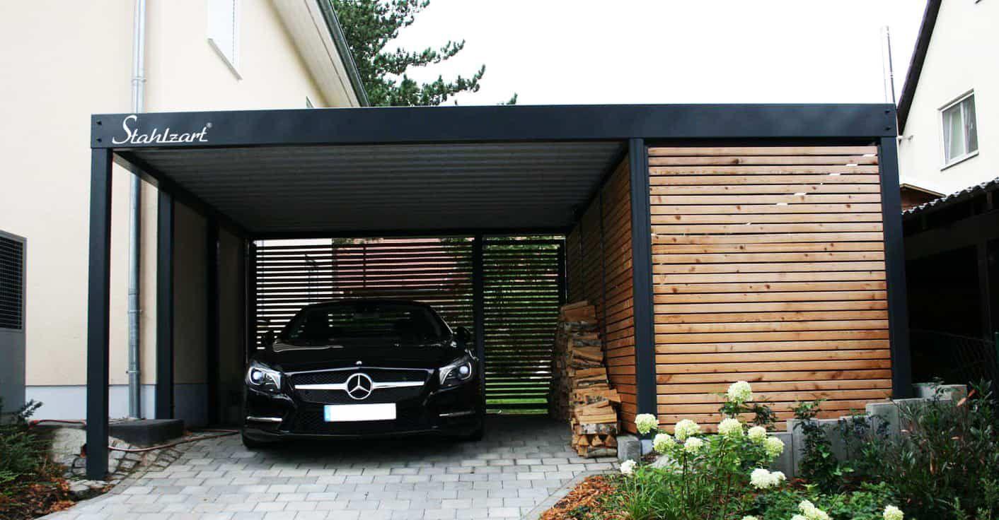Carport Metall Holz Munchen Abstellraum Stahlcarport Stahlzart Carport Metall Holz Munc In 2020 Steel Carports Carport Designs Modern Carport