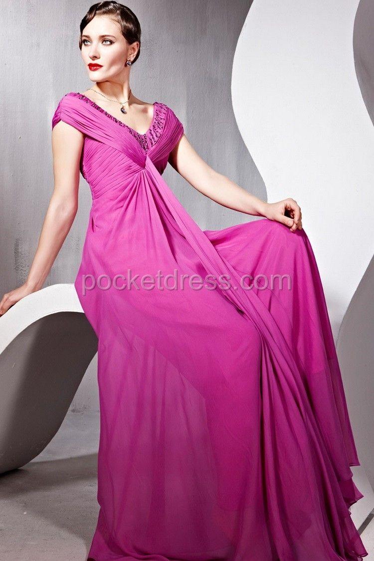 Violet Floor Length Fashion Prom Dress | Evening dress | Pinterest