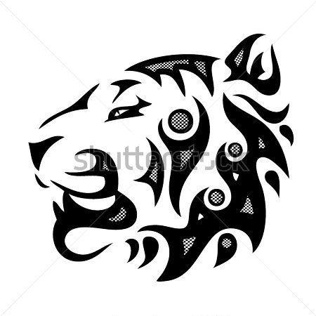 silueta cabeza de tigre - Buscar con Google   decoracion   Pinterest ...