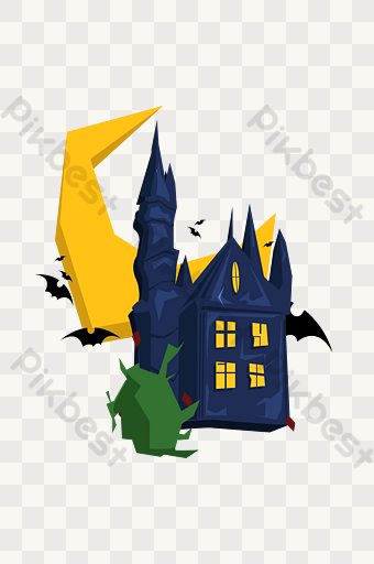 Halloween Ghost Castle Png Images Ai Free Download Pikbest Halloween Party Poster Halloween Ghosts Png Images