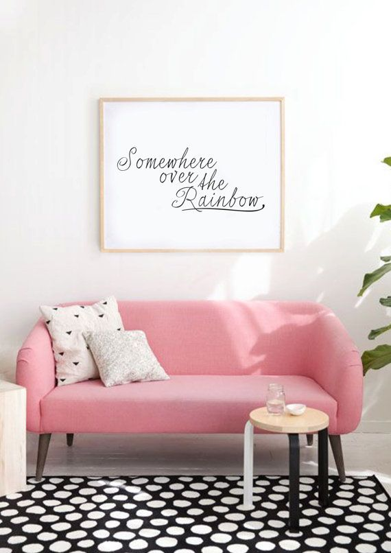 Somewhere Over The Rainbow Typography Print by lettersonlove | For ...