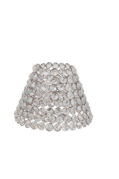PR Home Hopeanvärinen/kirkas Classic-lampunvarjostin
