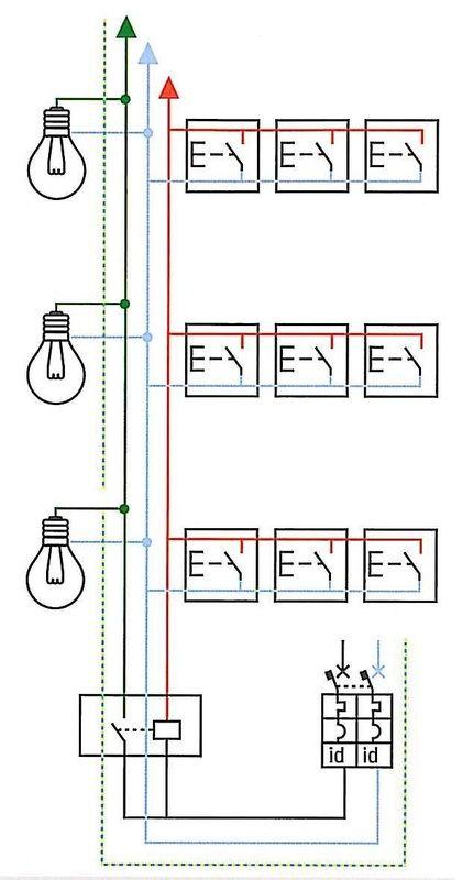 Schema Elettrico Pulsante Alzacristalli : Schema elettrico del circuito luce scale