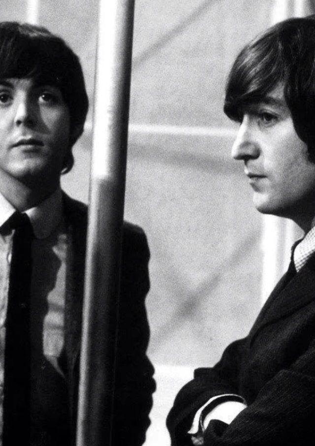 "wallflowerbeatlesfan: ""; John & Paul being very serious. """