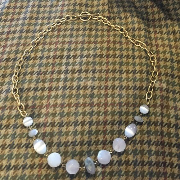 Monet Necklace with white beads Monet Necklace with white beads Monet Jewelry Necklaces