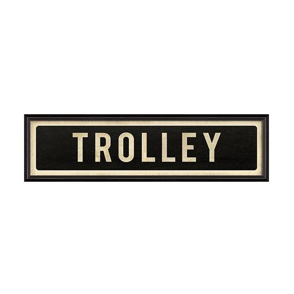 Street Sign Home Decor Classy Trolley Street Sign Framed Art $322 ❤ Liked On Polyvore Inspiration