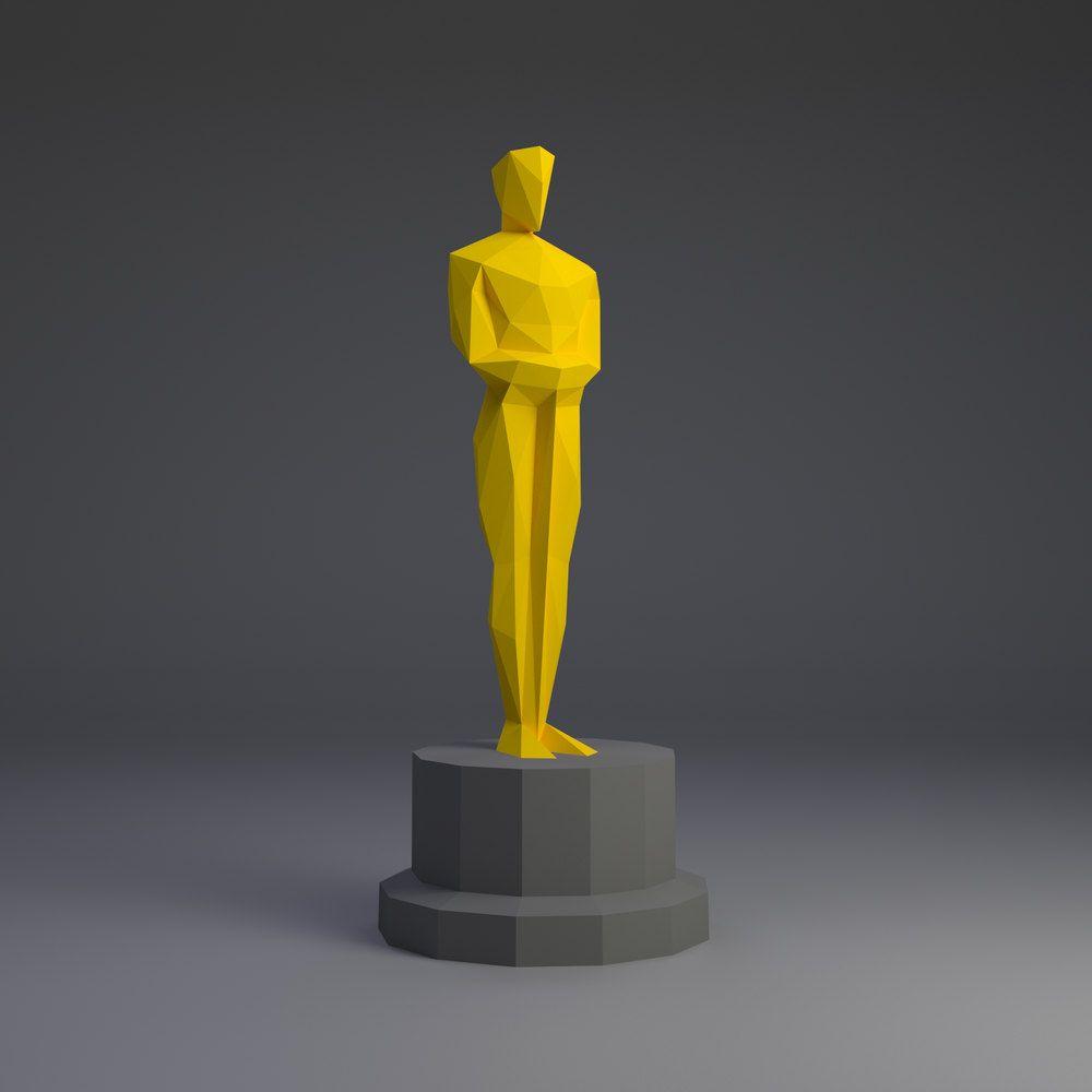 Oscar Origami Paper Trophy Figurine