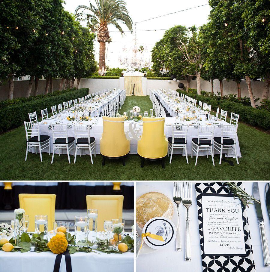 Small Ceremony No Reception: U Shape Table Set-up