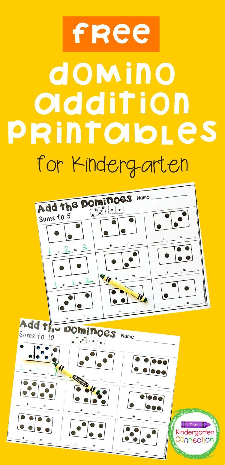 Domino Addition Printables Math Centers Kindergarten Early Childhood Education Curriculum Addition Kindergarten [ 1550 x 750 Pixel ]