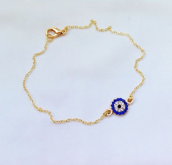 A personal favorite from my Etsy shop https://www.etsy.com/listing/190577678/gold-plated-evil-eye-ankle-bracelet-gold