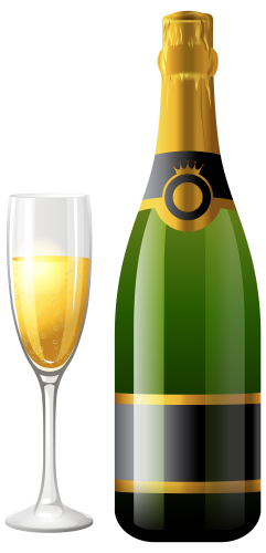 Champagne Bottle With Glass Png Clipart The Best Png Clipart Wine Bottle Gift Tags Champagne Bottle Teacher Wine Bottle