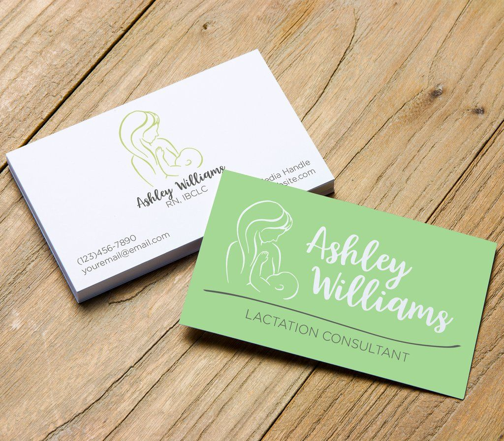 Lactation Consultant Business Card Template Custom Business Cards Digital Business Card Digital Business Card Lactation Consultant Custom Business Cards