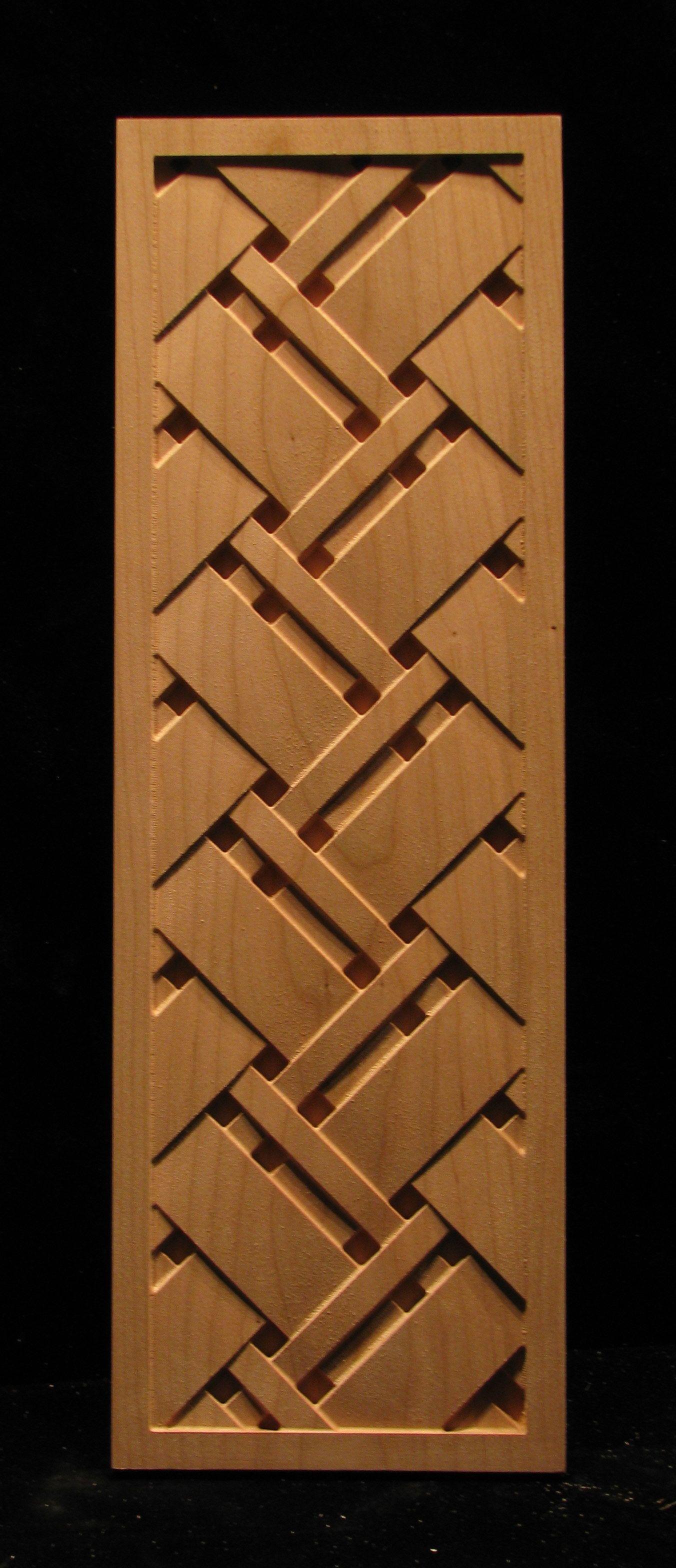 Wood Carved Panel Tartan Weave Modern Wooden Doors Door Design Wood Wooden Doors