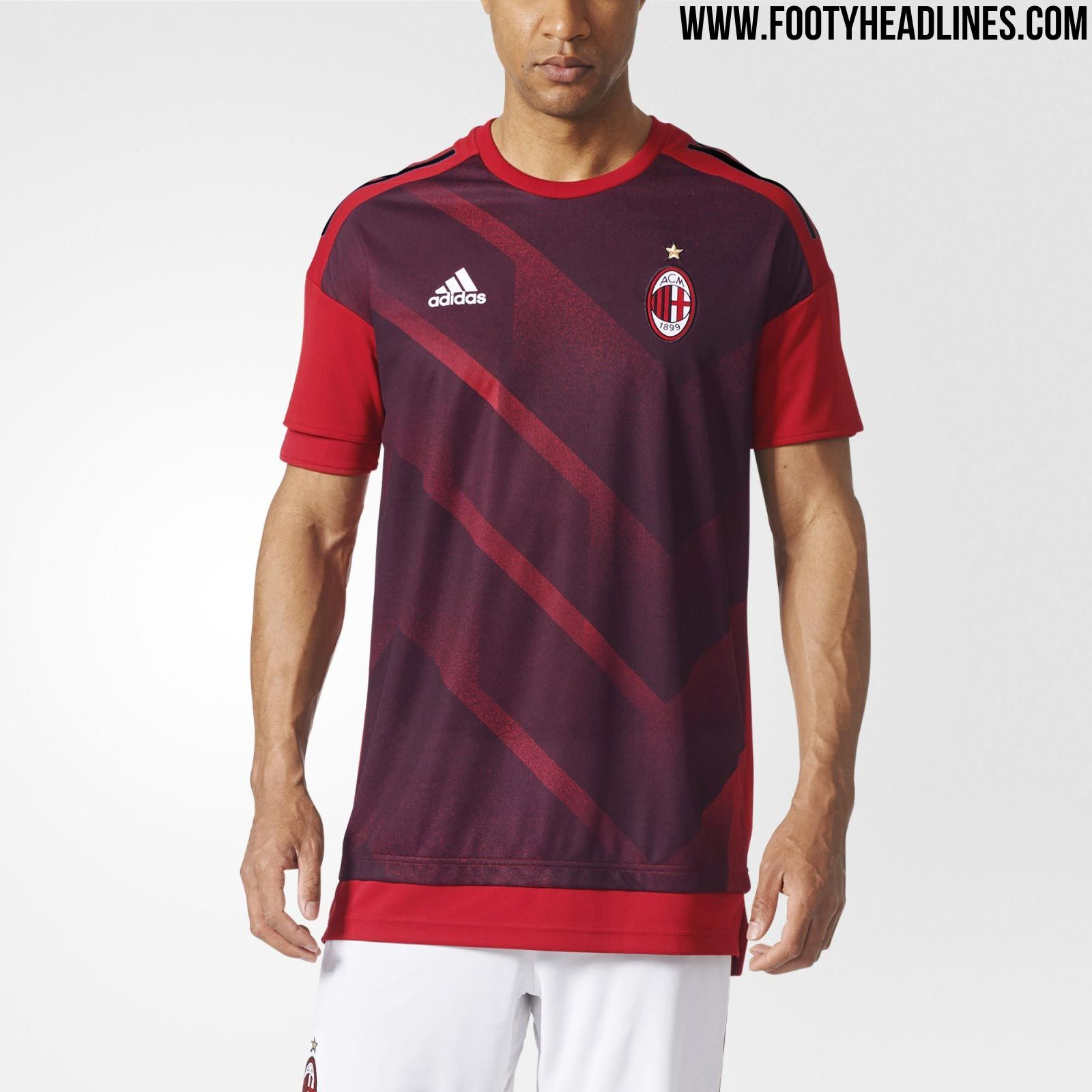 the milan 17 18 pre match shirt introduces a 1990s. Black Bedroom Furniture Sets. Home Design Ideas