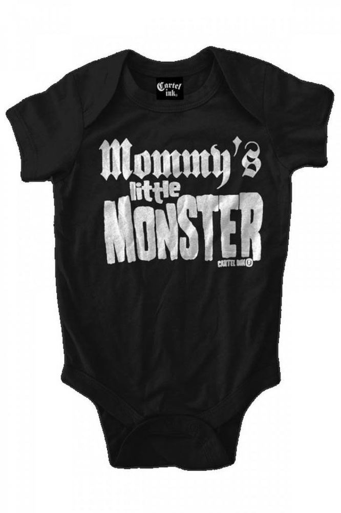 b6bcdf97f Kid's Cartel Ink Mommy's Little Monster One Piece Punk Rock Social  Distortion #CartelInk