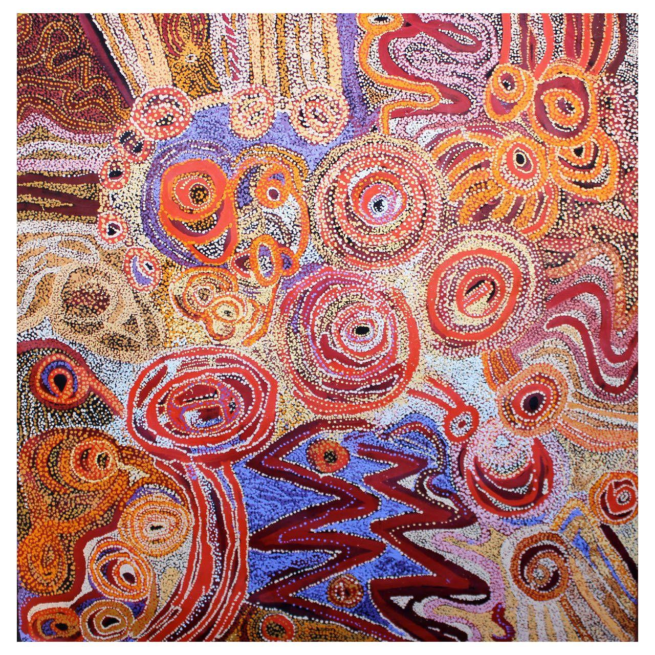 21st century australian aboriginal acrylic painting from