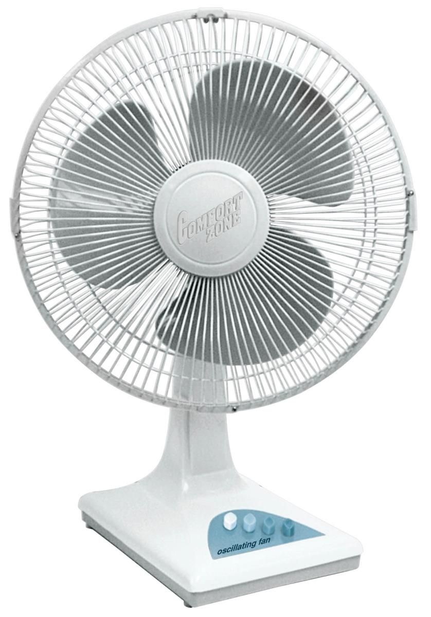 he Comfort Zone CZ161 16 inch oscillating table fan provides ...