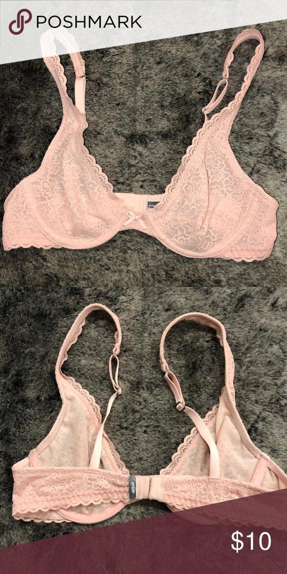 0c85b9268528 Aerie Bra Brand new/Never used light pink lace Aerie Bra with no padding aerie  Intimates & Sleepwear Bras