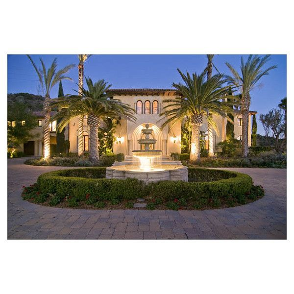 $31.9 Million Mediterranean Mansion In Brentwood ❤ liked on Polyvore featuring houses, home, house stuff and pictures