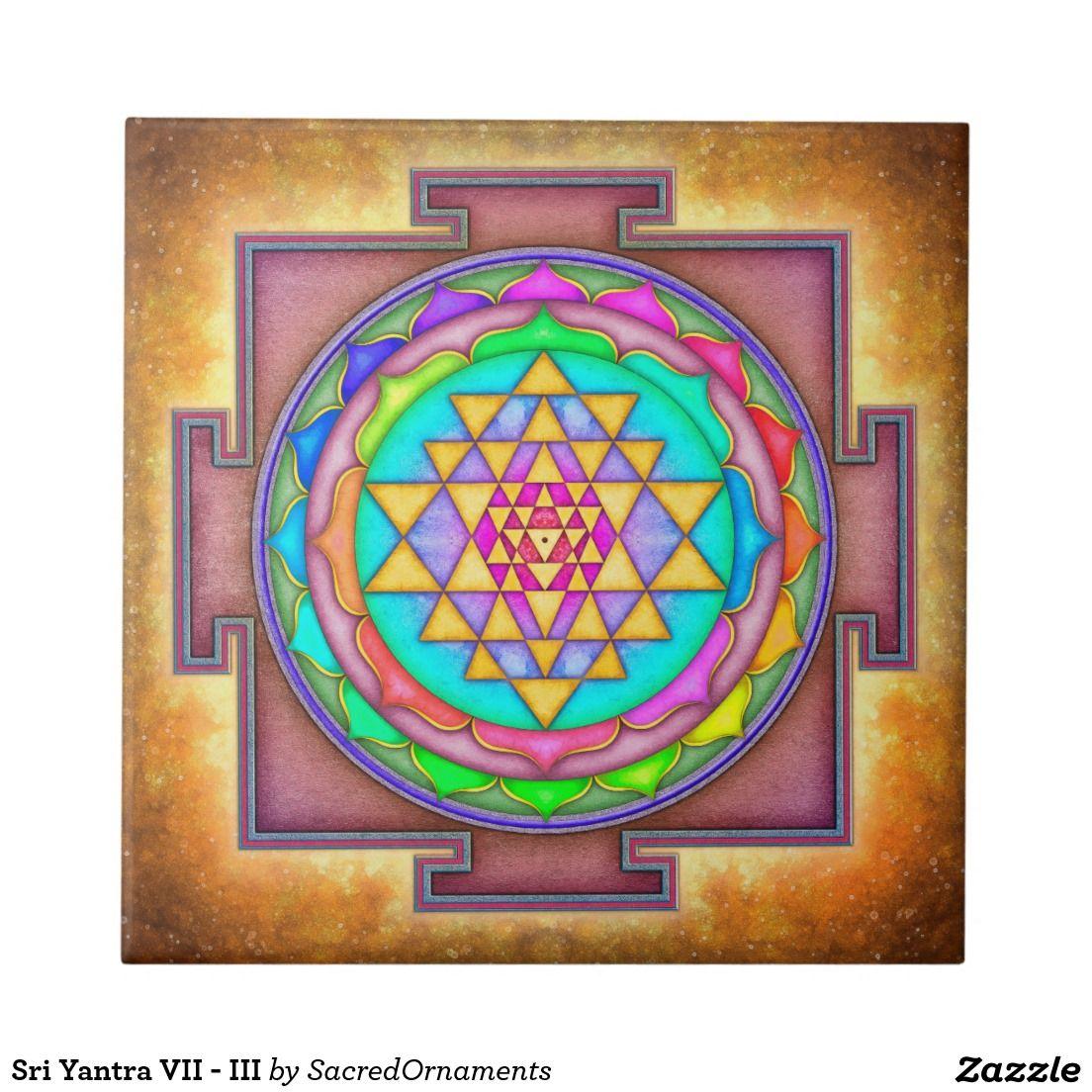Sri Yantra VII - III Kleine Quadratische Fliese