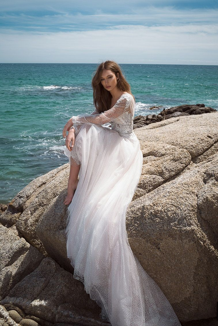 Crystal design couture The icon 2019 Wedding Dresses - Wedding Dresses 2019 , long sleeves a line wedding dress , wedding gown #weddinggown #weddingdress