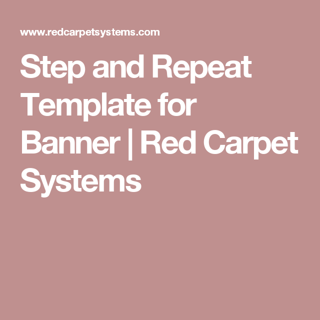 step and repeat template