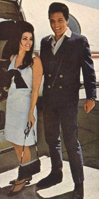 Priscilla & Elvis Presley: A bit of a break from the other pics, chosen because they just look so awesome together!