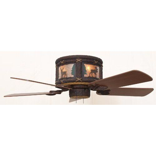 Amazon Com Timber Creek Rustic Hugger Ceiling Fan Available In 44
