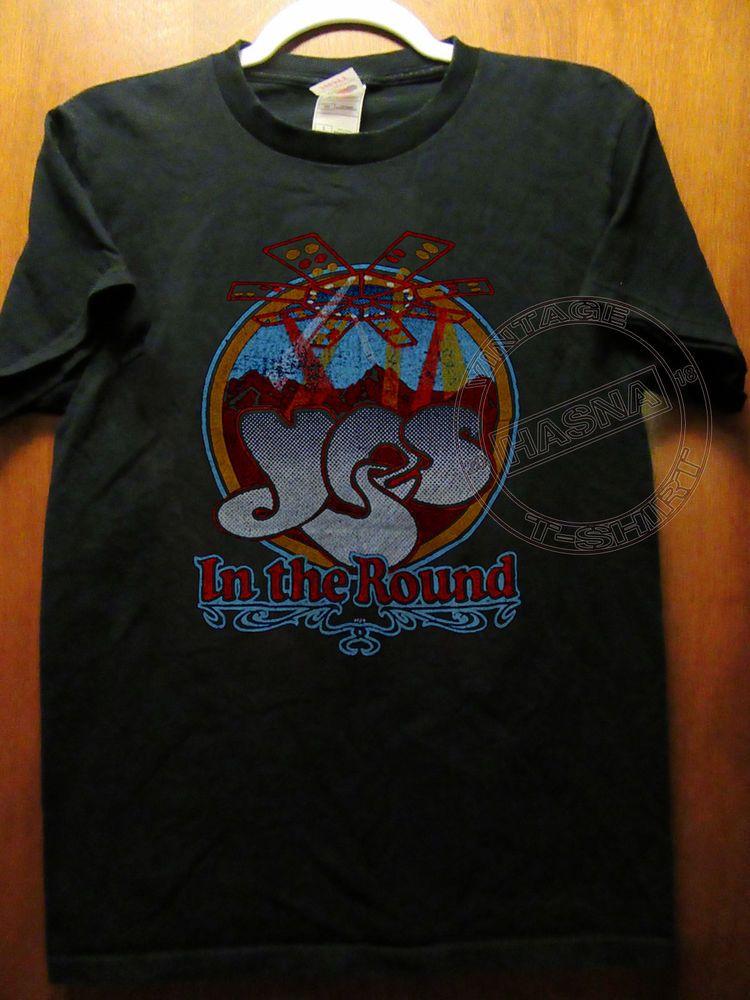 1978 Yes Vintage Concert Tour Rock Band T Shirt 70s 19 Gildan Reprint S Xxl Fashion Clothing Shoes Accessories Mensclo Shirts Band Tshirts Great T Shirts
