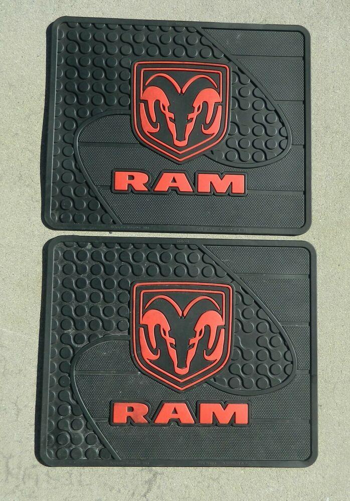 """2011 Dodge Ram Rubber Floor Mats 16.5"""" x 13.5"""" Heavy Duty"""