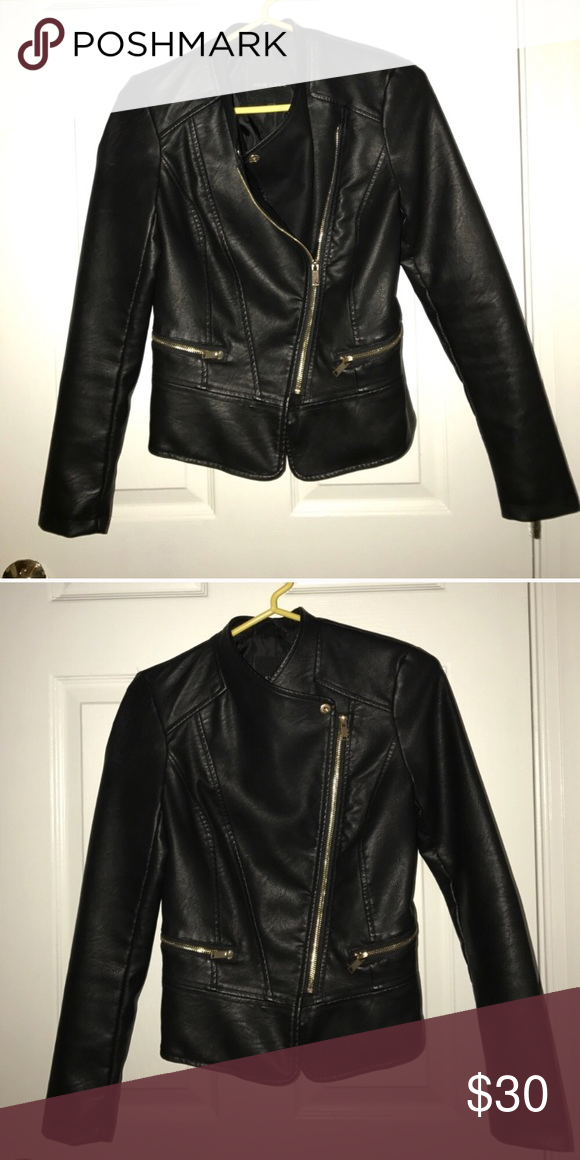 New Leather jacket Reposh...too small for me but such a