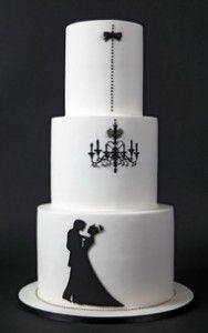 Unique silhouette cake decoration