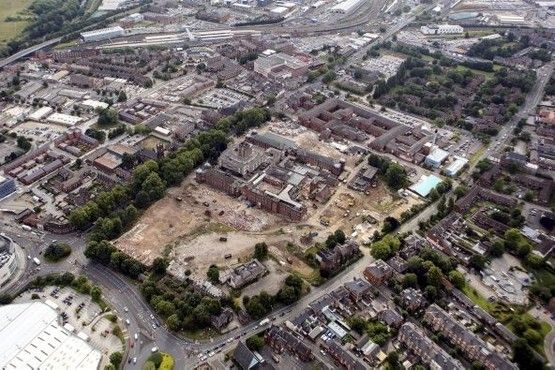 Amazing aerial photographs showing the demolition of the former DRI site