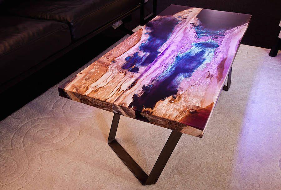 Beautiful Resin & Wood Design Tables in 2019 | resin | Diy