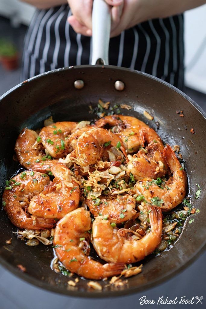 Best Soy Glazed Garlic Shrimp #seafooddishes