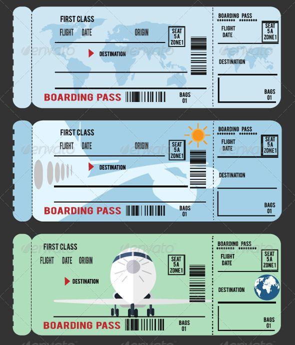 Boarding Pass Boarding Pass Template Boarding Pass Travel Tickets