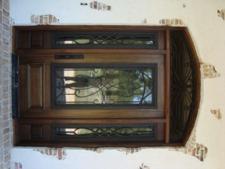 wood iron front door sidelight google search