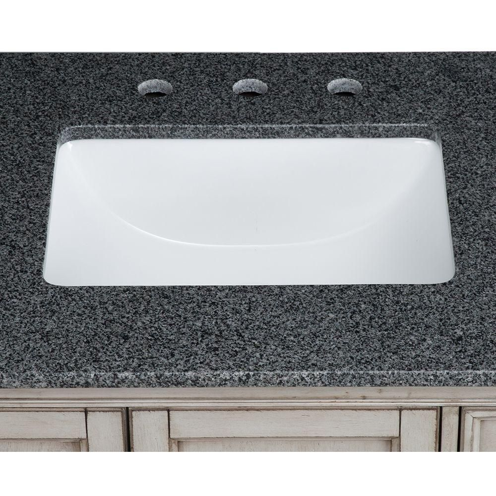 Glacier Bay Rectangle Undermounted Bathroom Sink In WhiteW - Glacier bay bathroom sinks for bathroom decor ideas